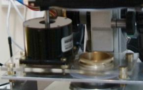 Silnik krokowy wraz z polaryzatorem