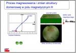 Animacja - wizualizacja zmian struktury domenowej pod wpływem pola magnetycznego